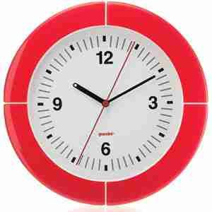 Orologio da parete i-Clook rosso Guzzini